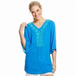 Lilly Pulitzer Blue Gauze Coverup Tunic XL